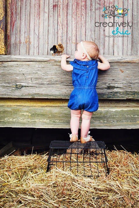 ~Easter Photo Ideas with kids & baby chicks~