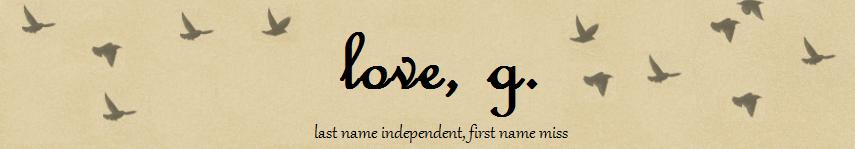 love, g