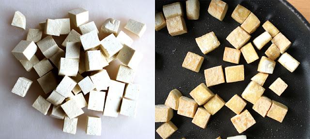 Oppskrift Tofu Wok Vegetarwok Marinade Paprika Kål Savoykål