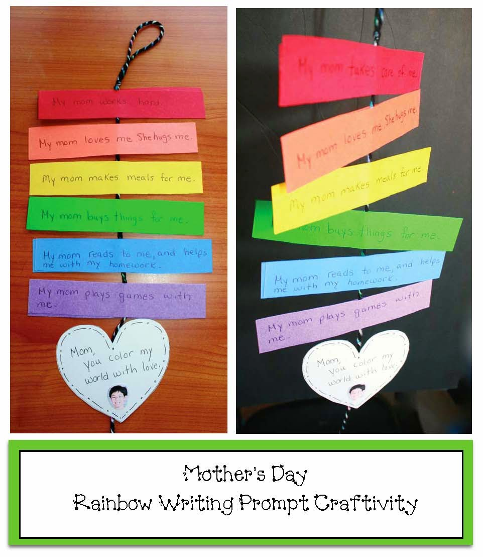 Classroom Writing Ideas : Classroom freebies rainbow mother s day writing prompt craft