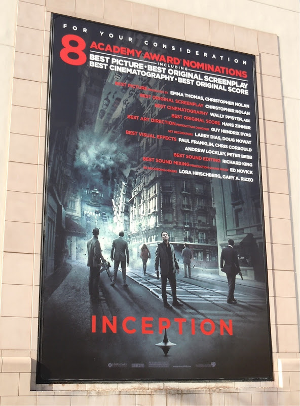 Inception Oscar nominations billboard