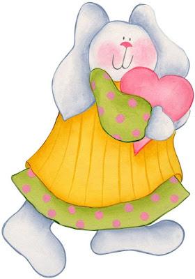 Linda conejita para imprimir conejos con corazones para imprimir