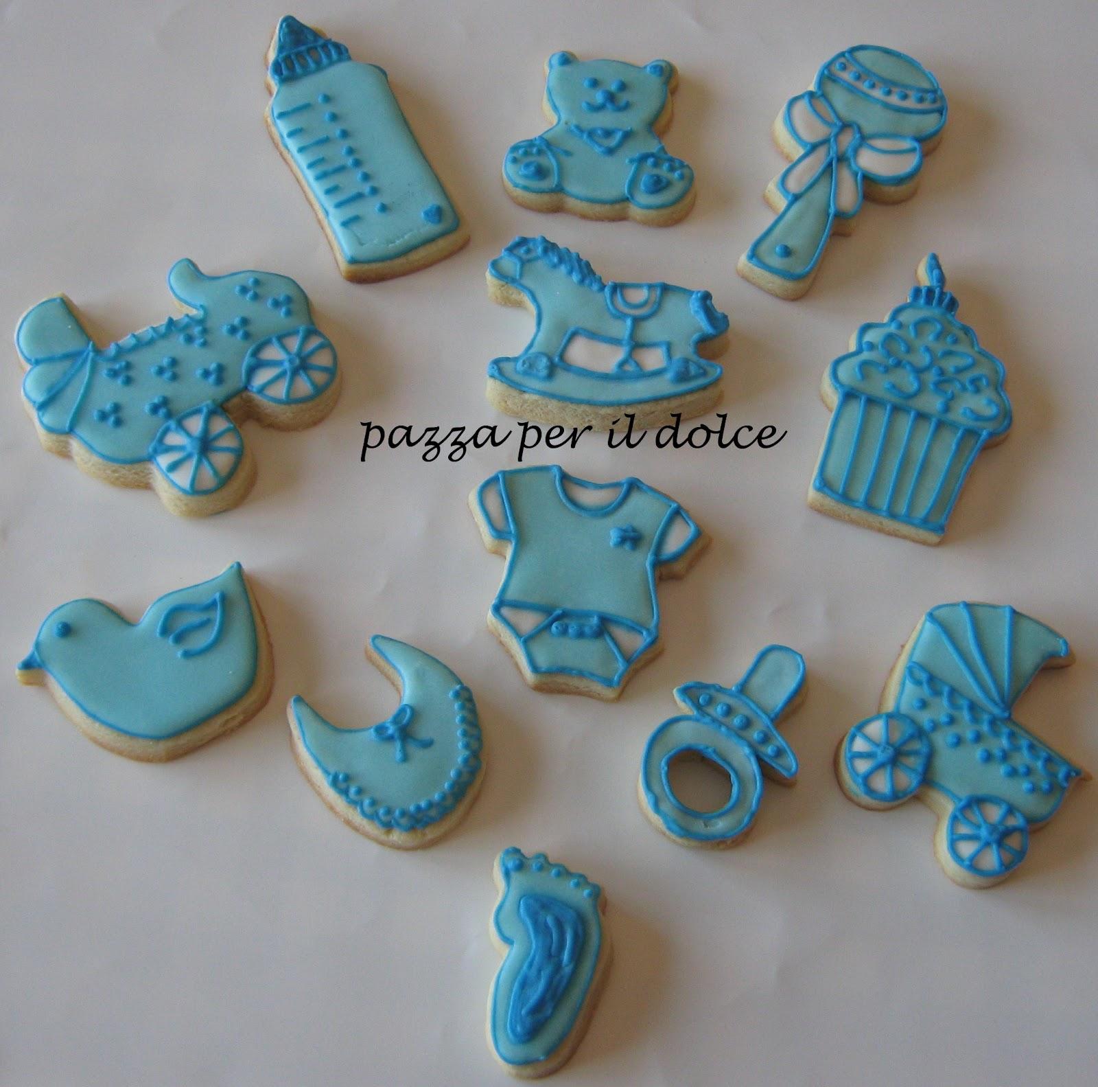 Pazza per il dolce biscotti decorati segnaposto per - Decorazioni battesimo bimbo ...