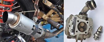 Motor modifikasi Honda blade