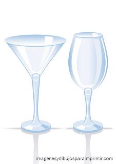 copas de cristal para imprimir
