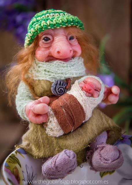 OOAK goblin fantasy doll