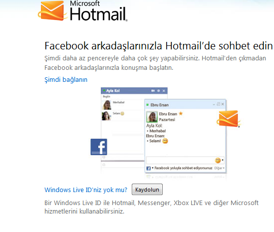 facebook msn aç