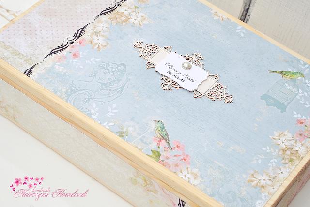 drewniane pudełko ślubne
