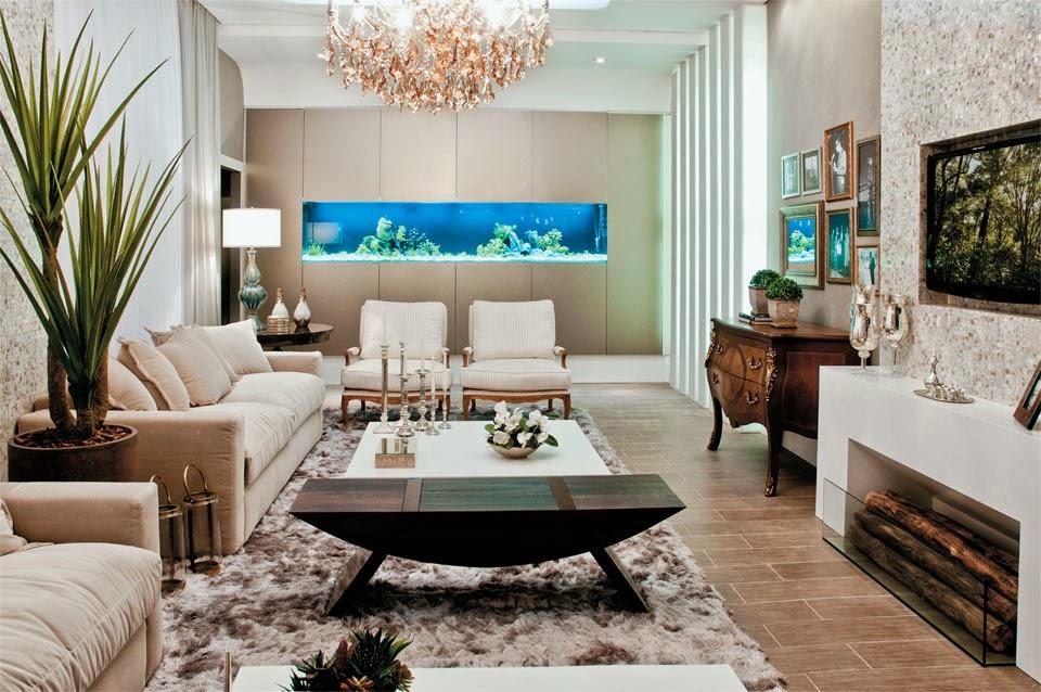 Ideias Decoracao Sala De Tv ~ Salas de TV  veja 30 modelos lindos e dicas decoração