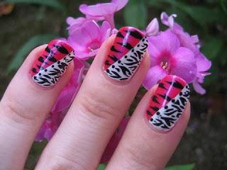 saranje noktiju - animal print nokti 002