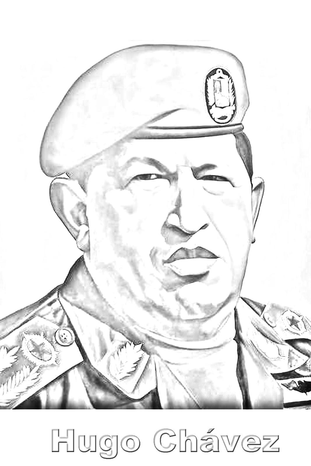 Hugo Chávez para colorear