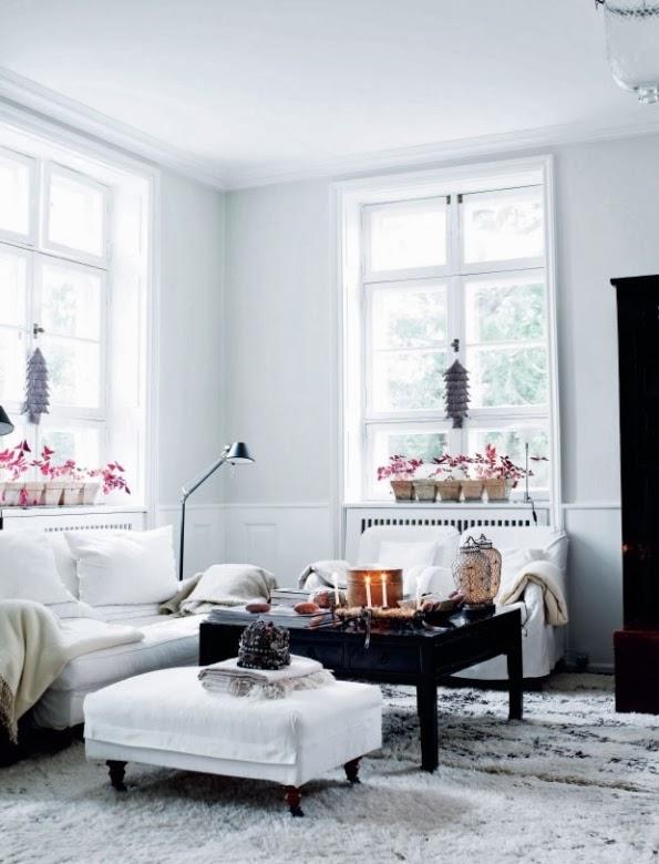 a scandinavian house with asian furniture