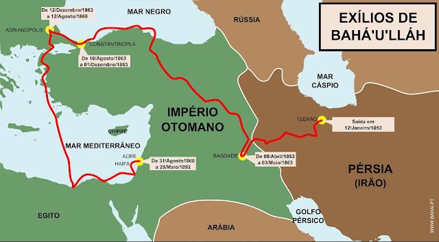 Exílios de Bahá'u'llah no Império Otomano