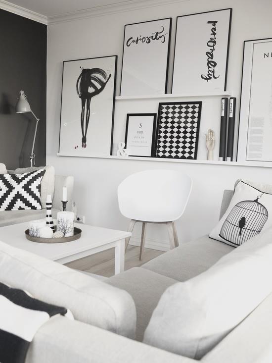 Saturn zimnem ziemi smaga inspiracje ramki for Black n white living room