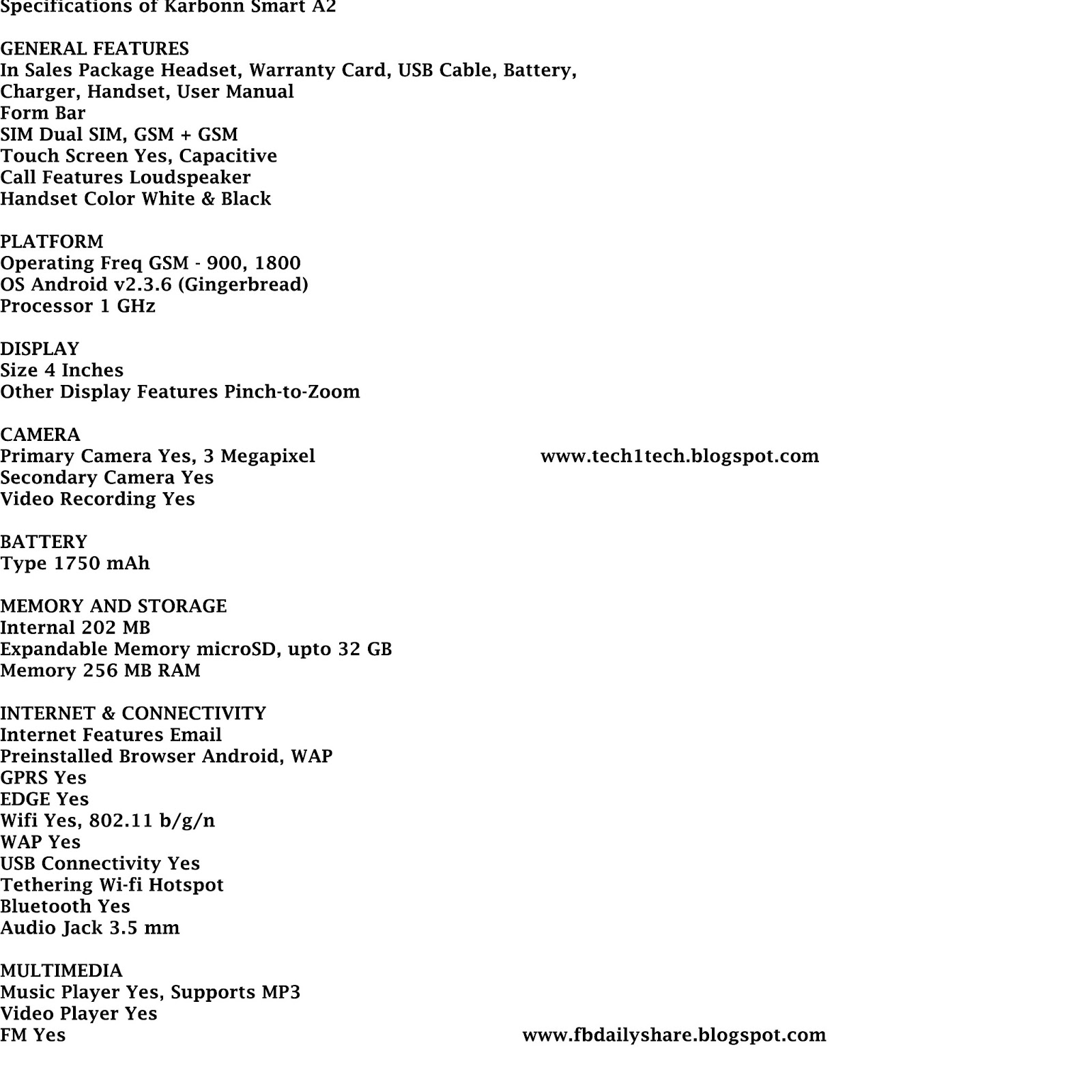 Samsung galaxy s duos s7562 full phone specifications - Karbonn Smart A2 Full Phone Specifications
