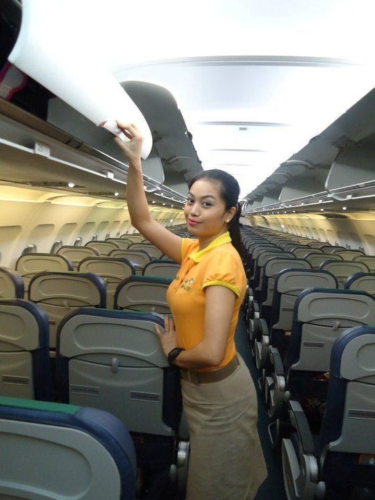pretty flight attendant