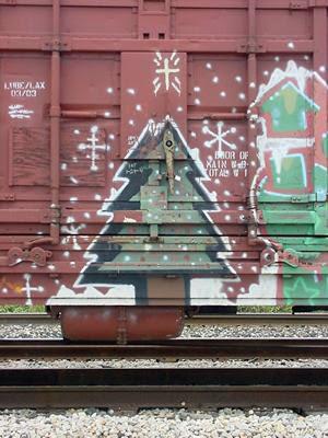 Christmas Tree Graffiti