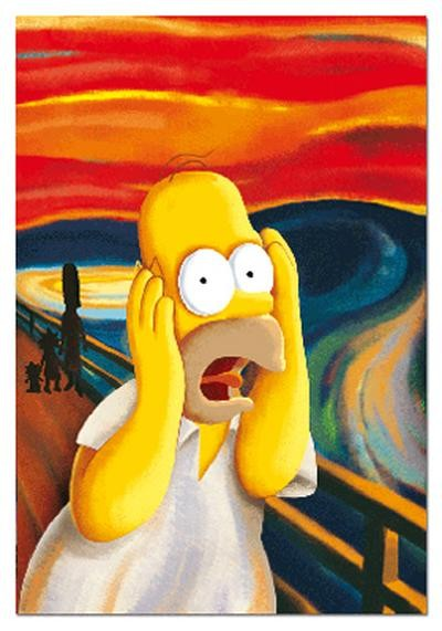 Pinturas Famosas De Los Inmortales Simpsons