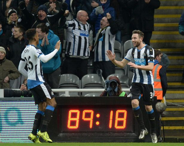 Late escape: Paul Dummett scored in the 90th minute to earn Newcastle a point