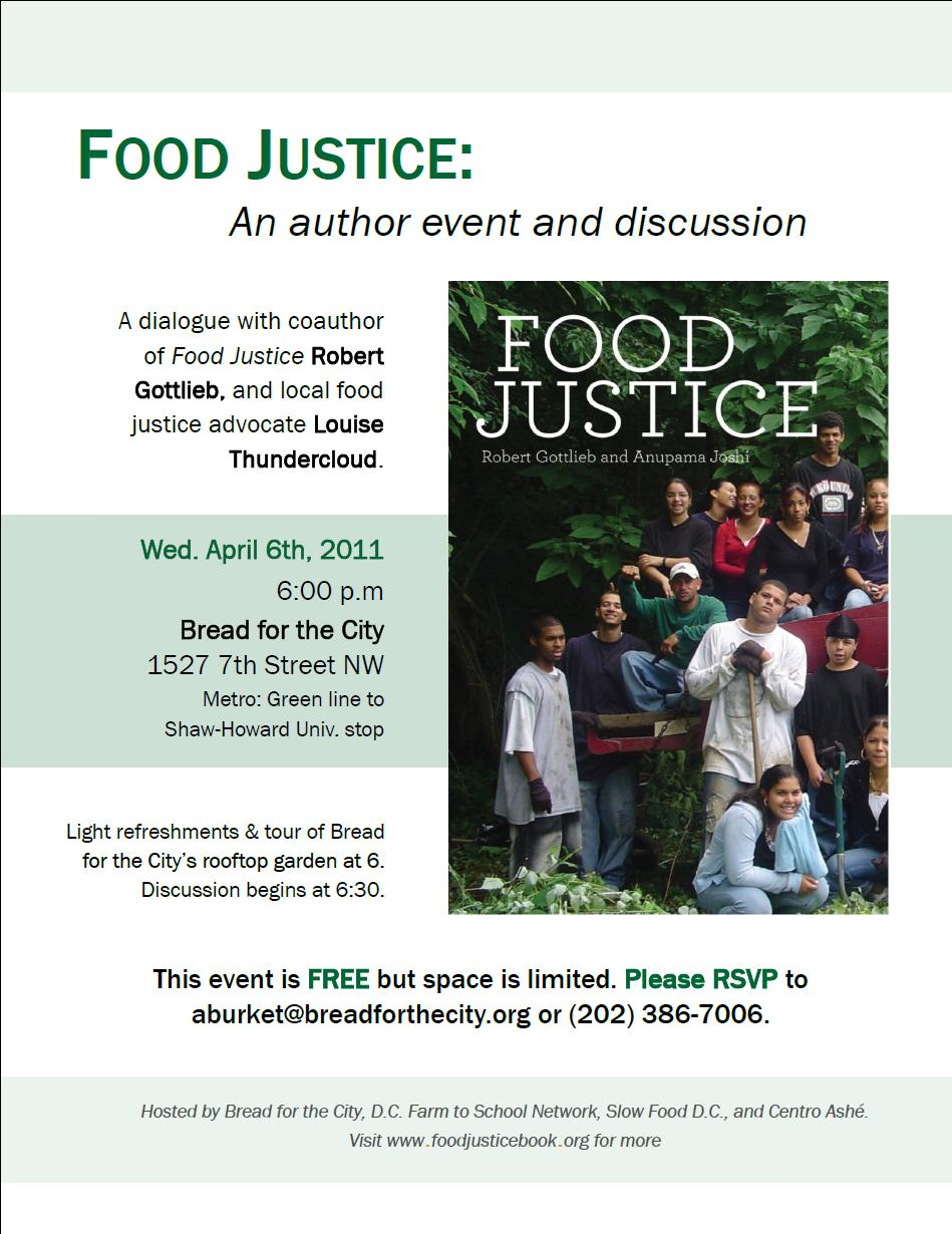 food justice Food waste is a tragedy in a time when so many people struggle to find enough to eat and excess food in landfills wreaks environmental havoc county, municipal and community leaders will highlight strategies for getting good food onto tables, not in the trash.