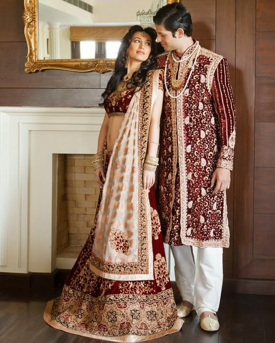 Wedding dresses indian couple pictures