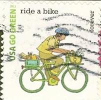 ride a bike stamp