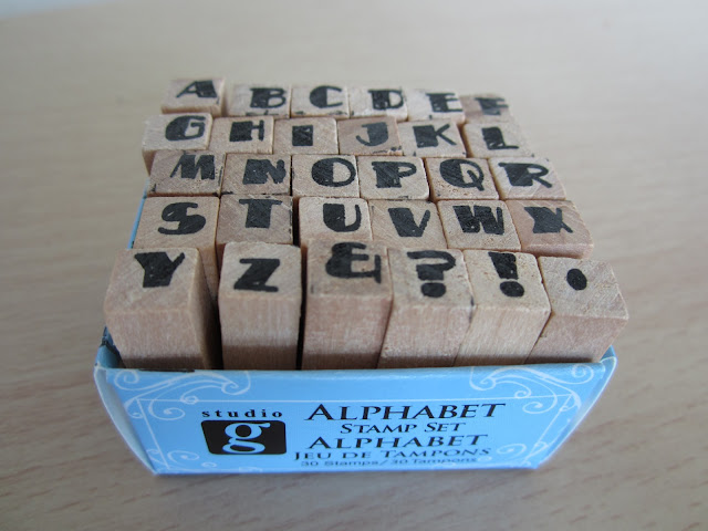 homemade card ideas alphabet stamps