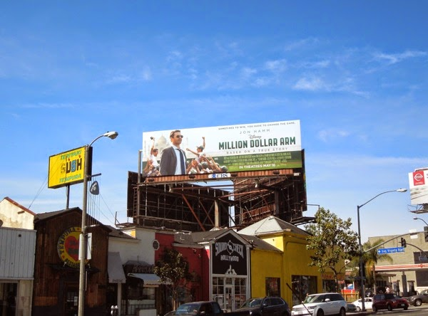 Million Dollar Arm movie billboard