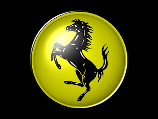 Black And Yellow Logo Ferrari