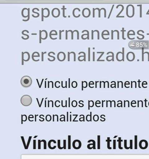 enlaces permanentes personalizados