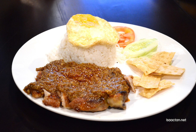 Special Satay Sauce Chicken Chop Rice - RM14.50