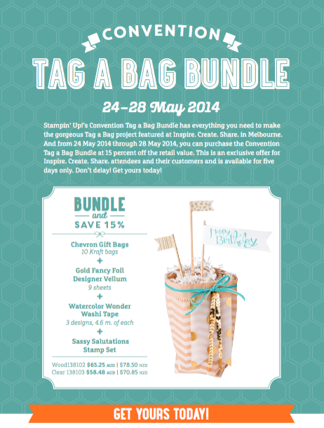 Tag a Bag Bundle offer – exclusive offer from Stampin' Up! Convention