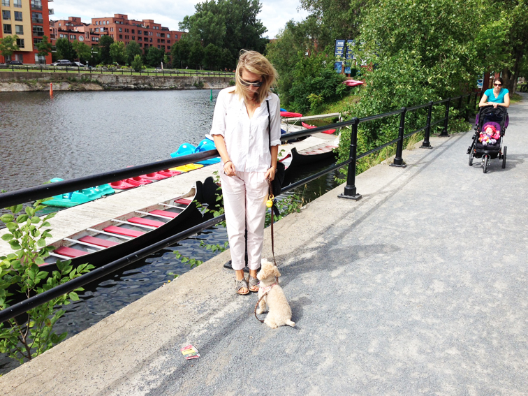OOTD Dog Walking Fashion Over Reason Waterfront Montreal