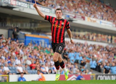Adam Johnson Blackburn Rovers vs Manchester City Barclays Premier League