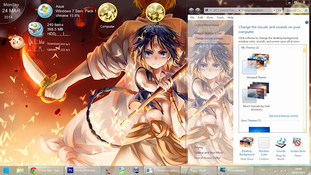 Tema Magi : The Labyrinth of Magic Windows 7 Anime Hitto