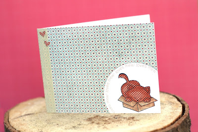 Cat Card by Elena Roussakis for Newton's Nook Designs