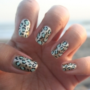 saranje noktiju - animal print nokti 007