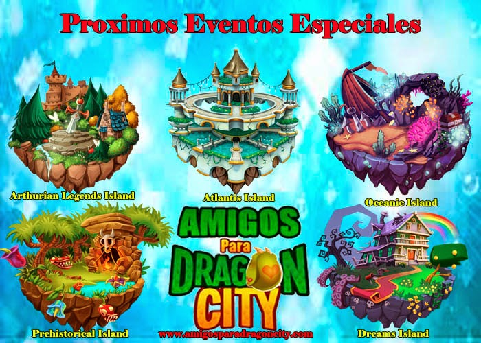 imagen de los proximos eventos especiales de dragon city