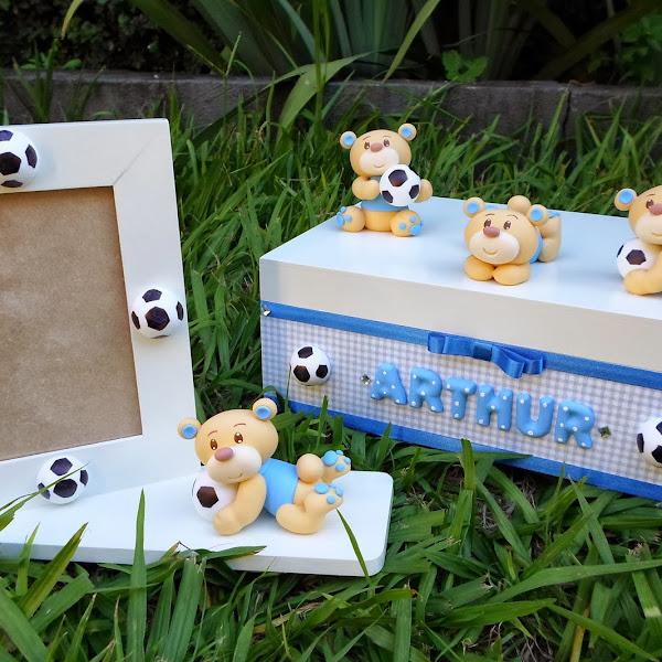 Caixa e Porta Retrato de Ursinhos