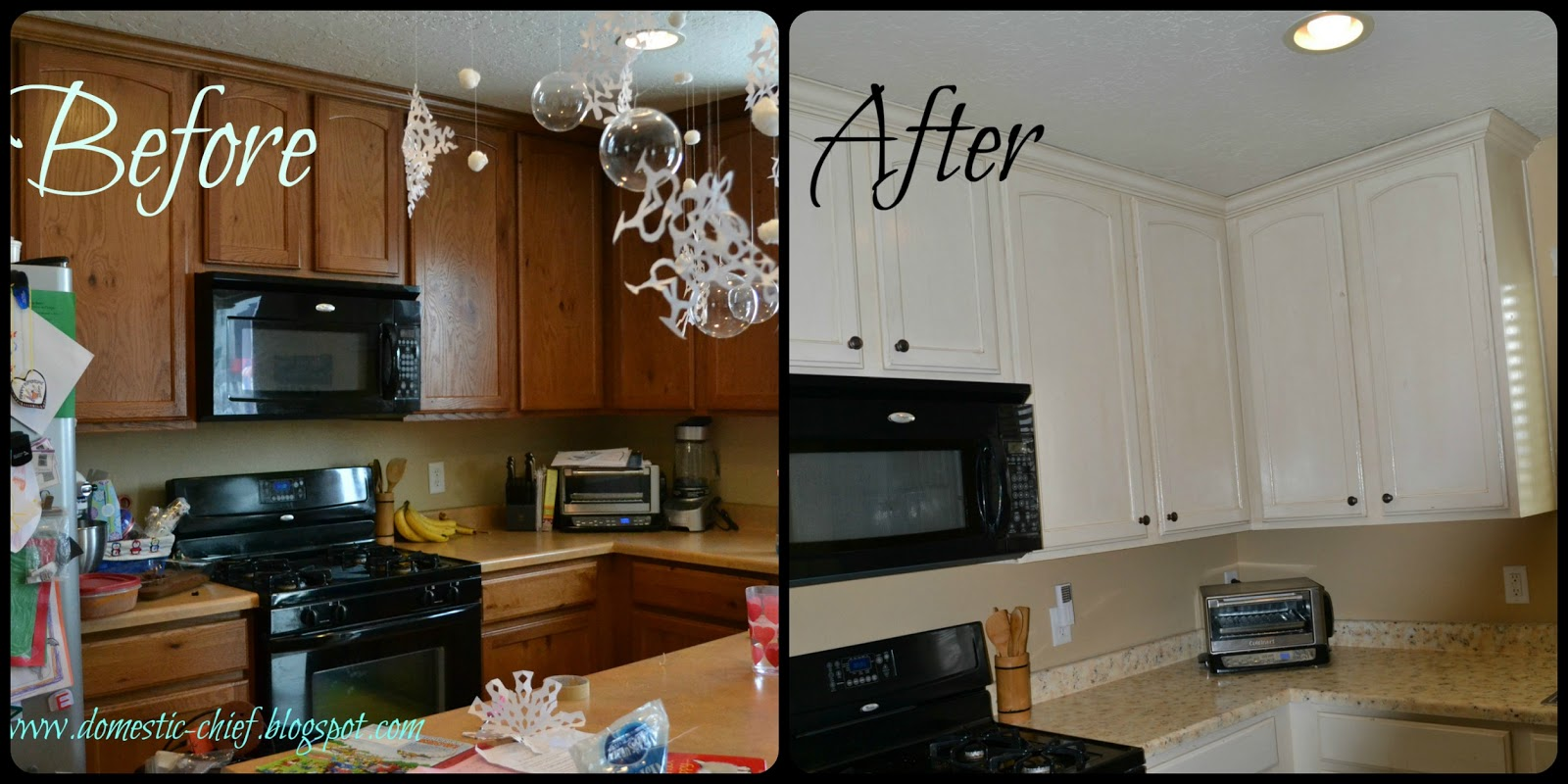 Chief domestic officer kitchen cabinet makeover for Kitchen cabinets makeover