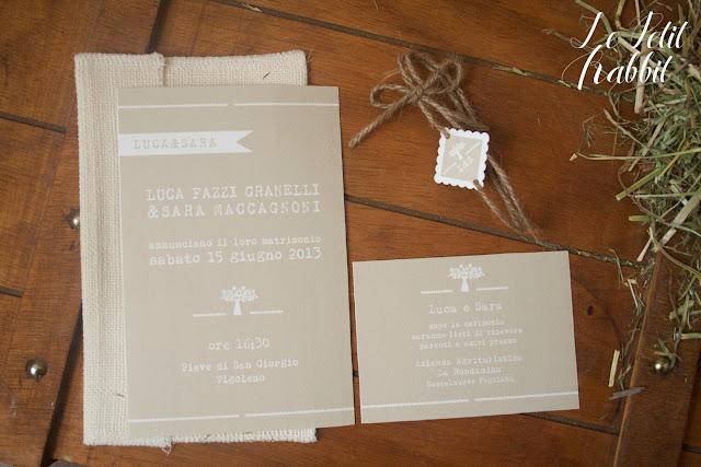 Partecipazioni Matrimonio Rustico : Le petit rabbit wedding suite per un matrimonio