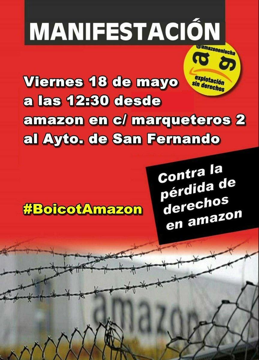 18 de mayo manifestación contra el empleo precario en Amazon