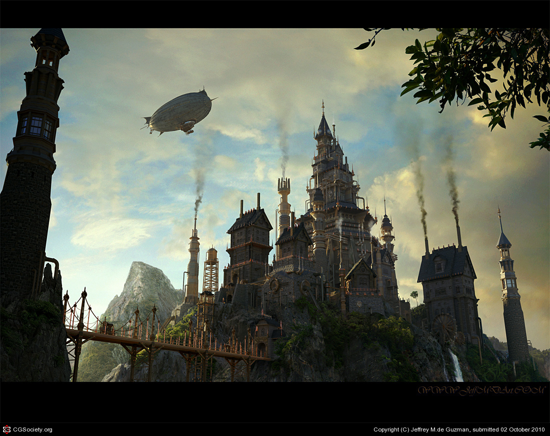 steampunk landscape by grimdreamart - photo #14