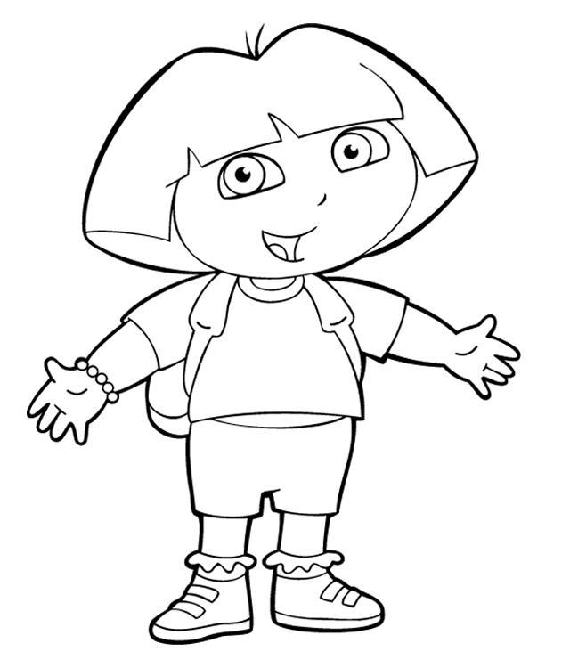 Kids Under 7: Dora the Explorer Coloring Pages