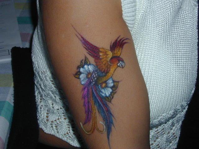 Bird of paradise tattoo - photo#2