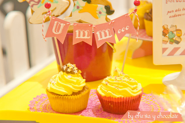 topper cupcakes by Fiesta y chocolate