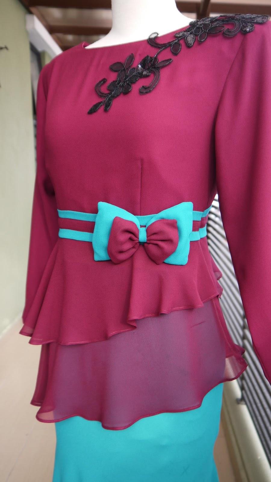 Peplum Kurung Dress / Kurung Moden Peplum