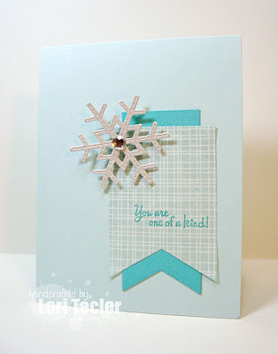 You Are One of a Kind card-designed by Lori Tecler/Inking Aloud-stamps from Lil' Inker Designs