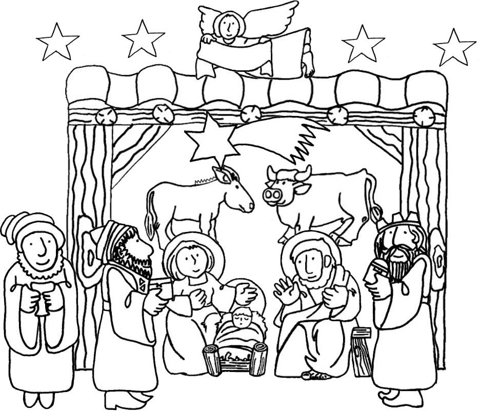 Nacimiento De Jesus Para Colorear | New Calendar Template Site