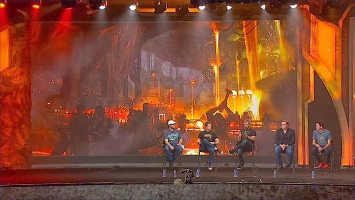 la Blizzard Con presentando Warcraft